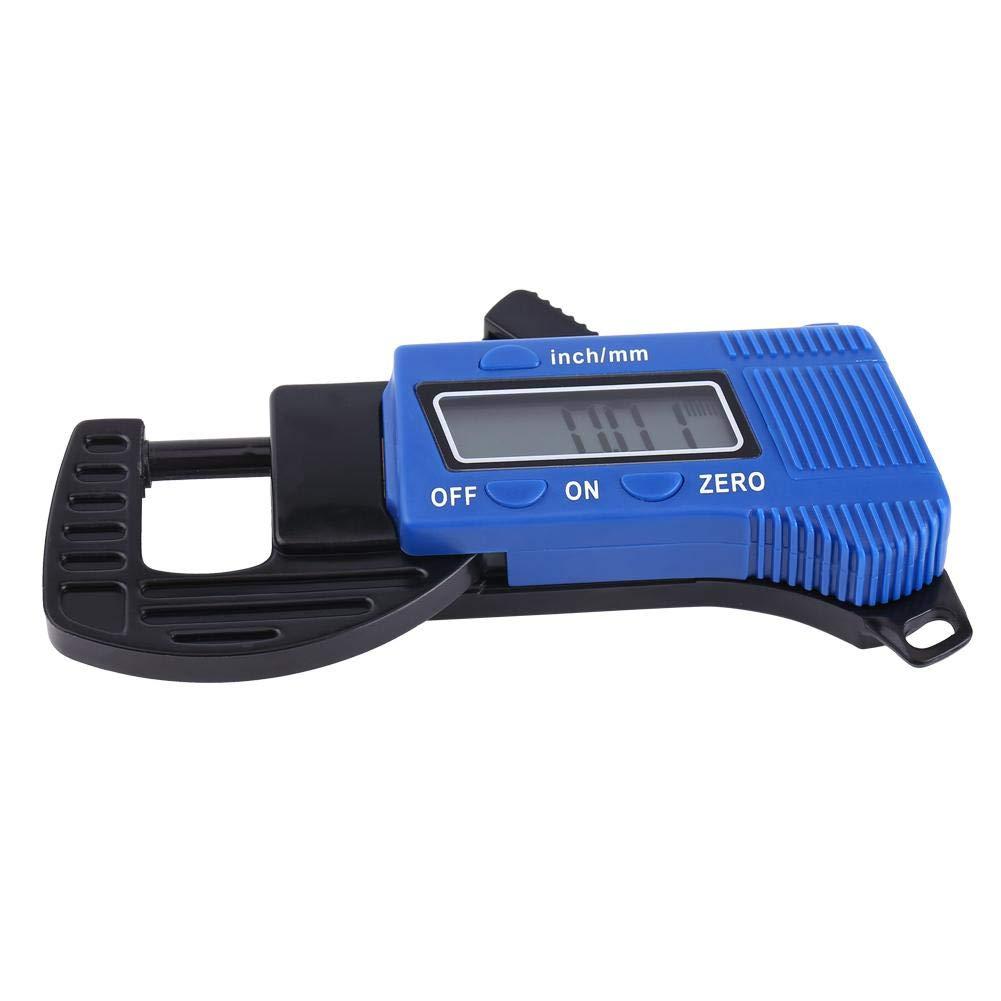 Zyyini Electronic Thickness Gauge,1pc Digital Micrometer Thickness Meter Thickness Tester Ranging 0-12mm