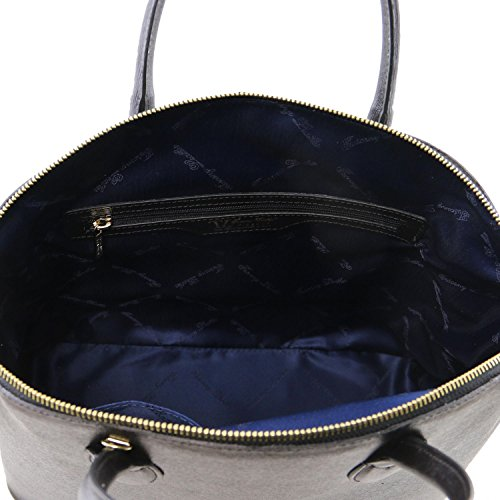 Tuscany in Leather TL pelle Nero Borsa KeyLuck Saffiano shopper FBqrFPx