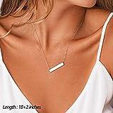 Turandoss Delicate Layering Choker Bar Necklace