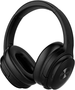 COWIN SE7 Active Noise Cancelling Headphones Bluetooth Headphones Wireless Headphones Over Ear with Microphone, Comfortable Protein Earpads, 30 Hours Playtime for Travel/Work, Black