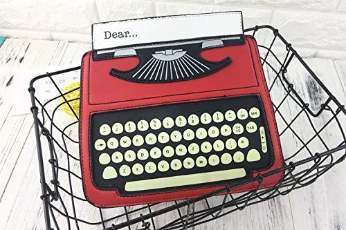 Pnizun Nero donna Crossbody Red Casual Femal Black di disegno da cuoio Rosso Bag elaborazione Mini fumetto amp; Flap Borsa Messenger di dell'unità Totem Spalla Typewriter Purse rxrp6SUw