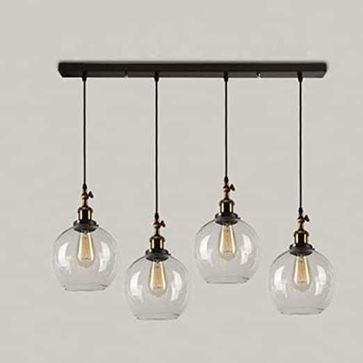 En Decoratif Jour Style Baycheer 4 Ampoule Industriel Light Suspensions Eclairage Abat Métal Lampe Rétro Lustre ZiTPwkOuX