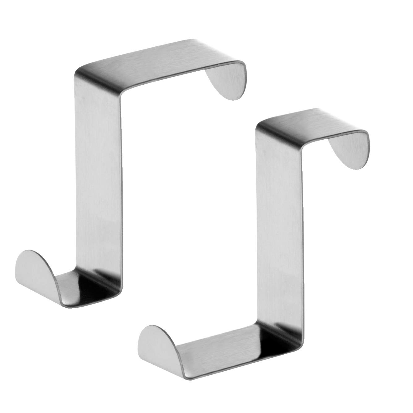 Tatkraft Seger Over the Door Hooks Reversible Z Hooks for Over the Door or Cupboard Door Hold up to 11Lbs 5 kg Towel Holders Set of 2 Stainless Steel