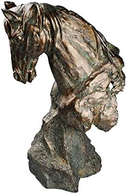 Comfy Hour 20050 Magnificent Horse Bust Figurine, 18-inch Height