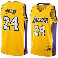 WLY # 24 Kobe Basketball Jersey Chaleco de Juego Lakers para Hombre Versión de Bordado Amarillo Traje de Entrenamiento Sudadera niño