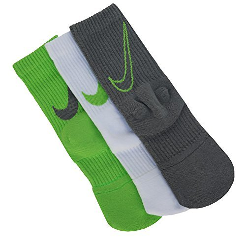 Nike Kd Hyper Elite Basketball Crew Socks (Small, Red/Black/Grey)