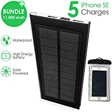 Modern Solar Charger by GrayLu 11500mAh Best Portable Solar Power Bank Shockproof/Dustproof Dual USB Battery Bank for Cell Phone,iPhone,Samsung,Android Phones,Windows Device,GoPro,Cameras,GPS and More