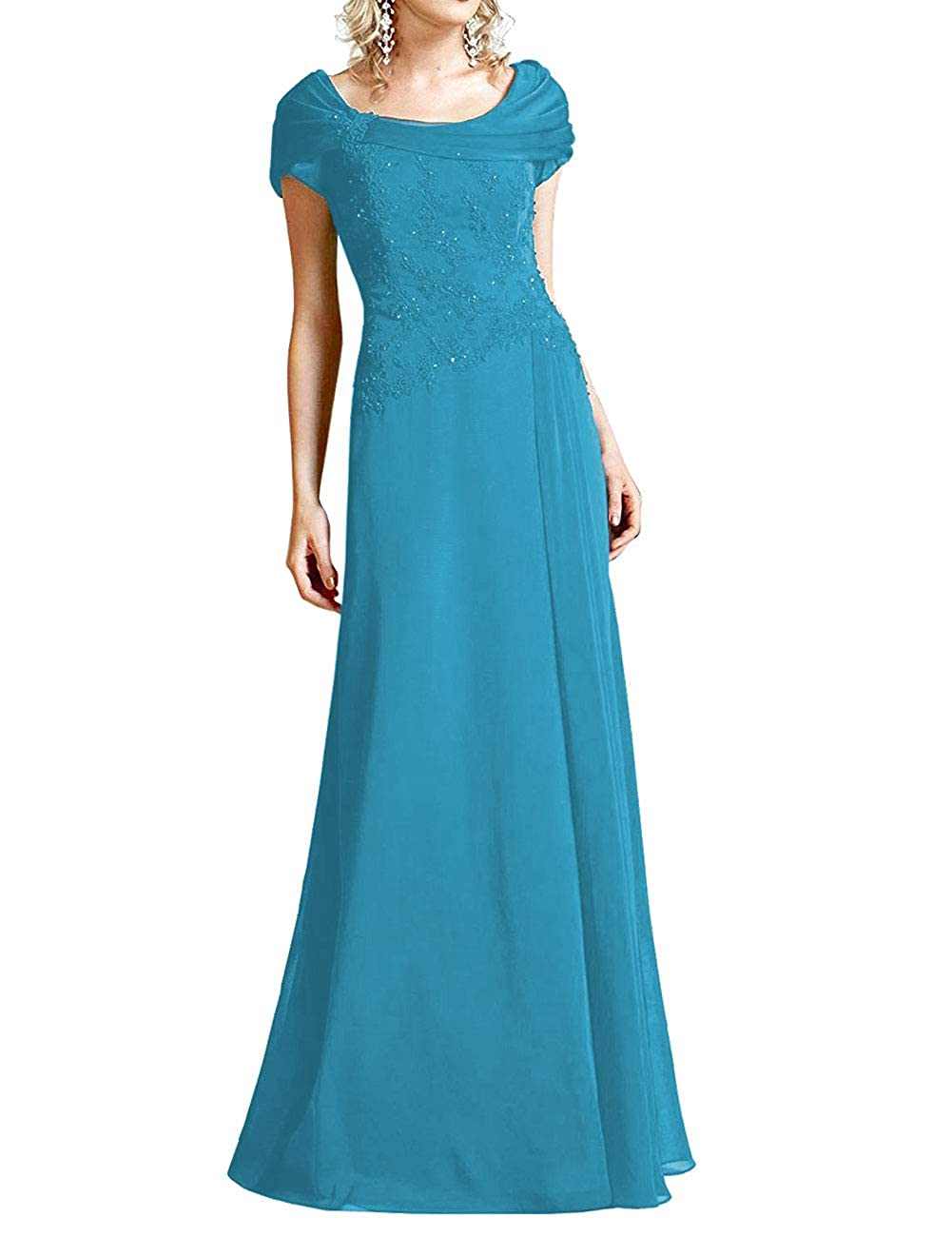 bluee H.S.D Mother of The Bride Dresses Lace Formal Gowns Long Evening Dress Prom Wrap Shawl