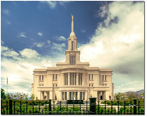 Latter-day Strengths PAYSON UTAH BEAUTIFUL LDS temple - 10''x8'' print on Fujicolor Crystal Archive photo paper - Vibrant, Full-Color, High Resolution photograph (BEAUTIFUL 10x8 PRINT) by Latter-day Strengths