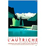 Vintage Travel AUSTRIA and VISIT THE ALPS, from 1935. 250gsm Gloss Art Card A3 Reproduction Poster by World of Art