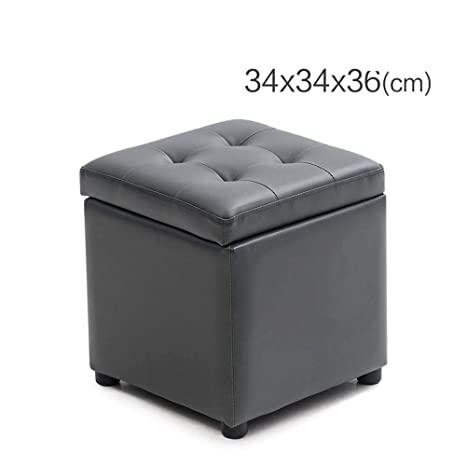 Amazon.com: Padded seat Cube Foot Stool, Ottoman with ...