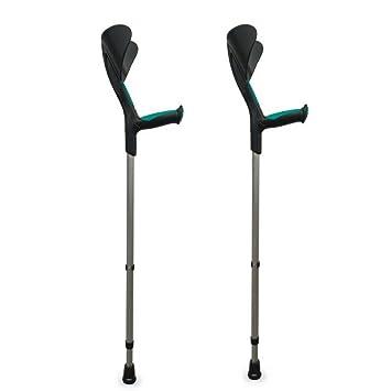 Pack 2 Muletas Advance con puño anatómico de goma | Color verde: Amazon.es: Hogar