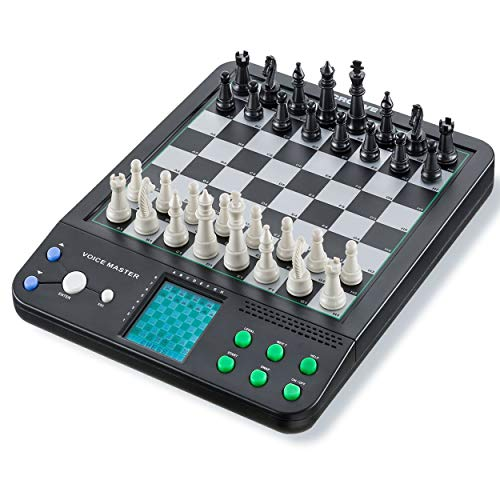 IQ Toys Voice Master, 8 Electronic Board Games, Chess, Checkers, Reversi