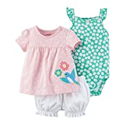 Carter's Baby Girls' 3 Piece Polka Dot Bird Set Newborn