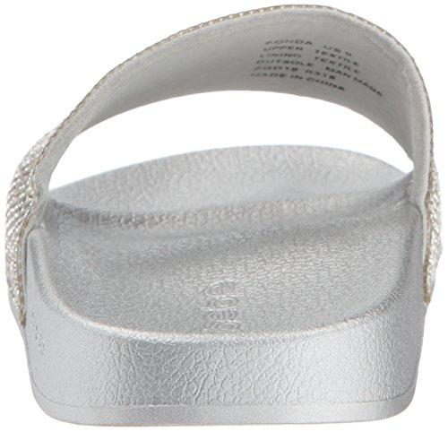 Bebe Women's Sandal Silver Slide Fonda rxqBwA7ar
