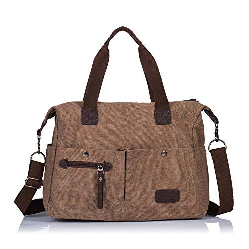 Women faux suede tote bags handbag big size(Brown) - 9