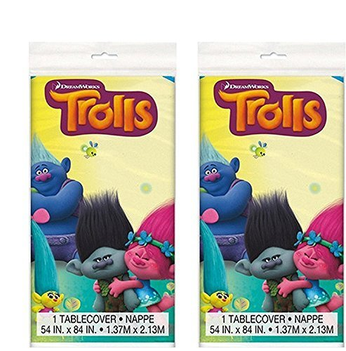 Trolls Party Table cover 84'' X 54'', 2 Pack by Dreamworks