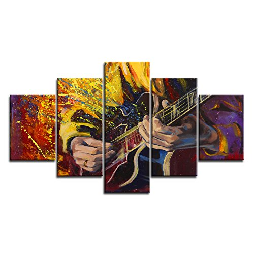 Music Wall Art Abstract Guitar Canvas Prints ()