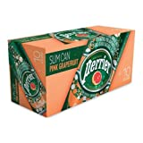 Perrier Pink Grapefruit Sparkling Mineral Water, 250 Milliliter - 10 per pack - 3 packs per case.