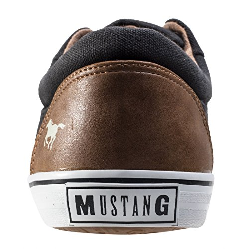 Herren Canvas Herren Mustang Sneaker Canvas Schwarz Schwarz Sneaker vZfB7w