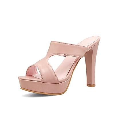 Damen Pumps Nude Schuhe Spitz Hohle Heels Schuhe Schwarz Grau Rot Silber Weiß Größe 34-39 (Farbe : Grau, Größe : 38) MYI