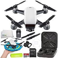 DJI Spark Portable Mini Drone Quadcopter Starters Palm Landing Pad Bundle (Alpine White)