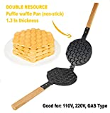 TOP Version Puffle Waffle Maker Professional Rotated Nonstick (Grill/Oven for Cooking Puff, Hong Kong Style, Egg, QQ, Muffin, Cake Eggettes and Belgian Bubble Waffles) (MOLD)