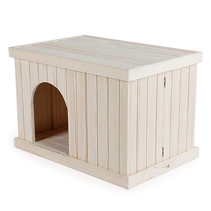 Plegable para Mascotas Jaula de Interior Casa de Perro de Madera Maciza Perro pequeño Cama para