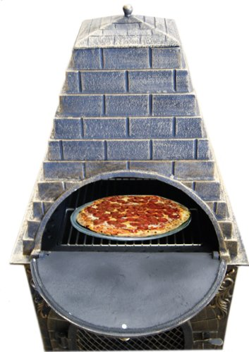 Deeco Dm 0039 Ia C Aztec Allure Cast Iron Pizza Oven