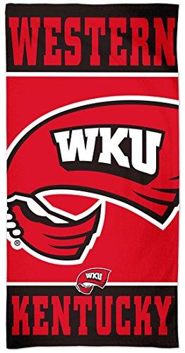 McArthur Western Kentucky WKU Hilltoppers Beach Towel Premium Spectra Graphics, 30 x 60 inches (University Kentucky Western)