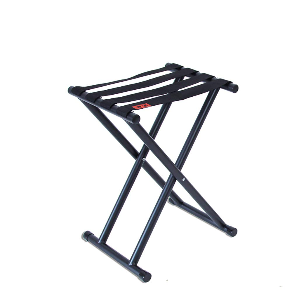 Luggage Racks- Folding metal outdoor Mazar stool Leisure fishing beach nylon rope stool Multi-function home Hotel luggage rack Sofa stool Foot stool (Size : 24.624.6cm)