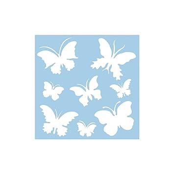 "RAYHER 3847500 Schablone ""Schmetterlinge"" 30x30cm, 8 Motive ca. 5,5 ..."