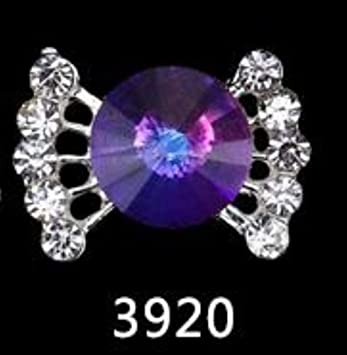 1746e4bf3c Amazon.com: 10Pcs/Lot 3D Charms Rainbow Crystal Diamonds nail stone ...