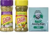 Mrs Dash Best Seasoning Salt Substitute. Original Blend and Onion and Herb. One-Stop Shopping For 2 Popular Seasoning Blends. Also Included: Free Sample Chef Paul Magical Seasoning Mix.