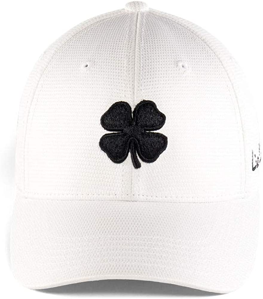Black Clover New Live Lucky BC Pro Luck Pearl White/Black Fitted S/M Hat/Cap