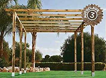 Kit Pergola 4.00x3.60 Postes 9 X 9: Amazon.es: Jardín