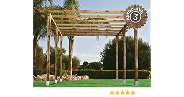 Kit Pergola 4.00x3.60 Postes 12 X 12: Amazon.es: Jardín