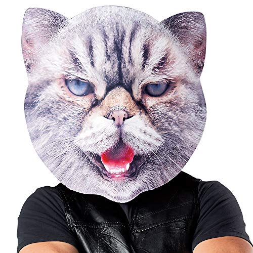 SEASONS LTD Oversized Mad Cat Mask for Adults, One Size, Measures 15 1/2 Inches Wide by 14 1/2 Inches Tall]()