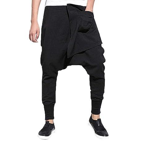 Hombre Pantalones de harén largos deportivos 75af96f9a71b