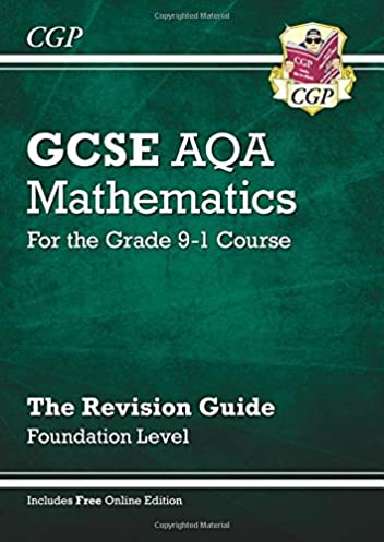 gcse maths aqa revision guide foundation for the grade 9 1 course rh amazon co uk cgp revision guide jokes cgp revision guides a level
