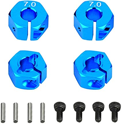4pcs Aluminum Wheel Hex Nut 12MM With Pins Drive Hubs HSP 1//10 Upgrade Parts SL
