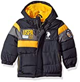 US Polo Association Baby Boys' Outerwear Jacket (More Styles Available), UB65-Charcoal, 18M
