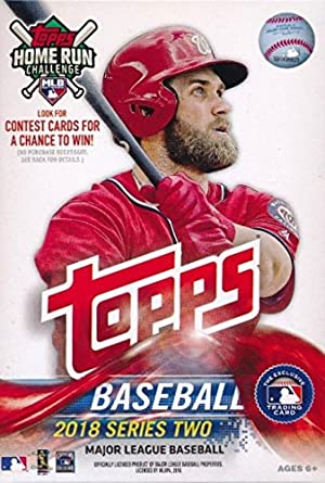 2018 Topps Series 2 Baseball Exclusive Factory Sealed Huge 72 Card Hanger Box Including 2 Legends In The Making Inserts Look For Rcs Autos Of