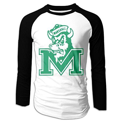 ARTBee Marshall University Men's Long Sleeve Raglan Tees Black M -