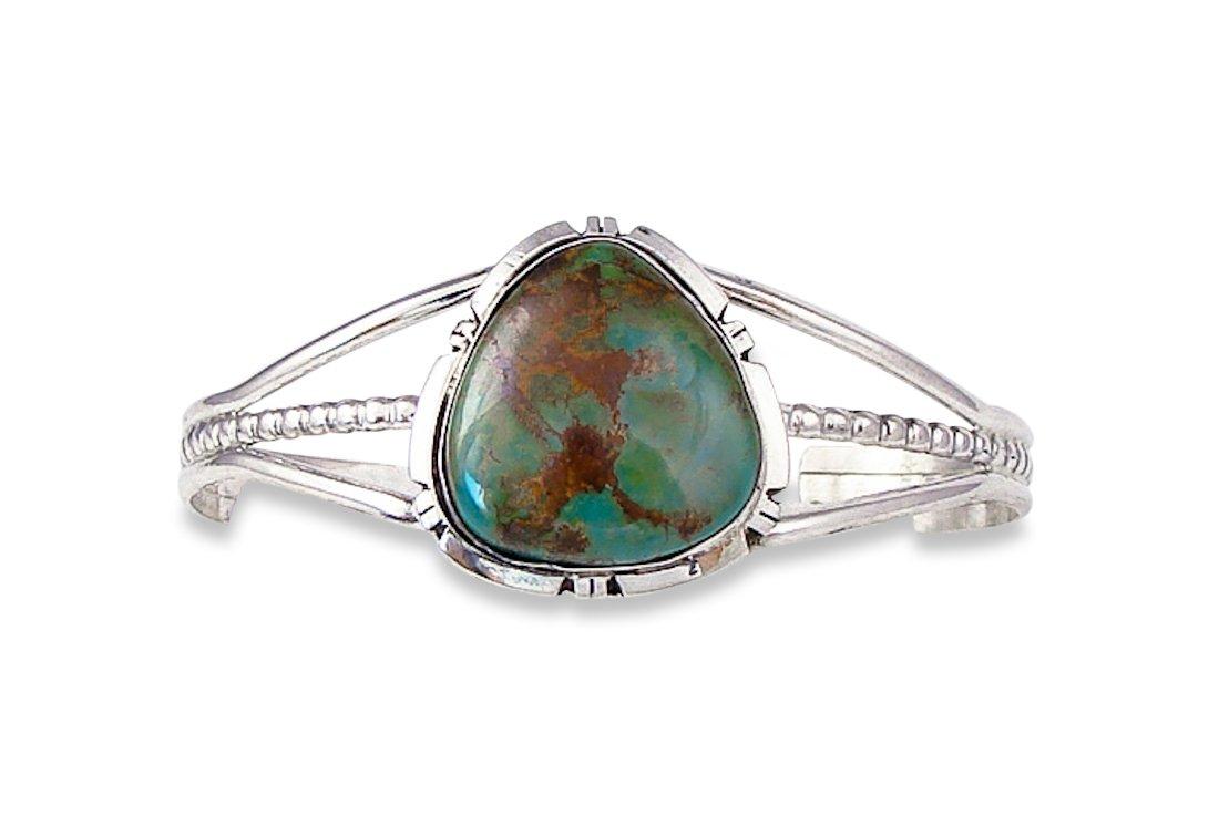 Navajo Turquoise Silver Women's Bracelet