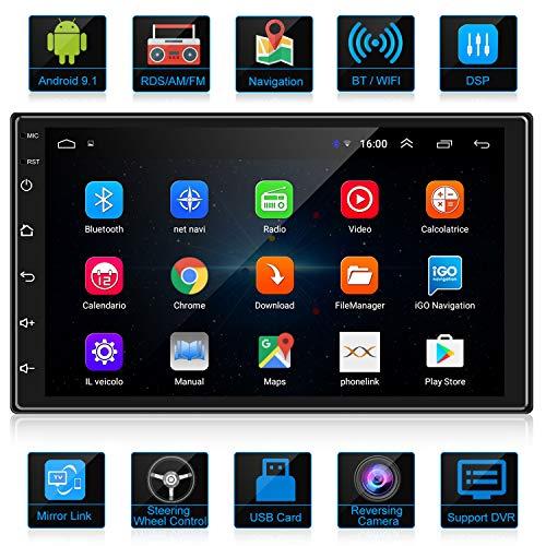 ankeway 2021 nuevo 2 din android 91 dsprdsamfm radio del coche navegacion gps 7 pulgadas 1080p hd pantalla tactil wifi internet multimediabluetooth manos libresmicrofonocamara de marcha atras
