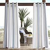 Navy Curtains For Door, Modern Contemporary Fabric Light Window Curtain For Outdoor, Newport Striped Modern Window Curtains, 54X95″, 1-Panel Pack Review