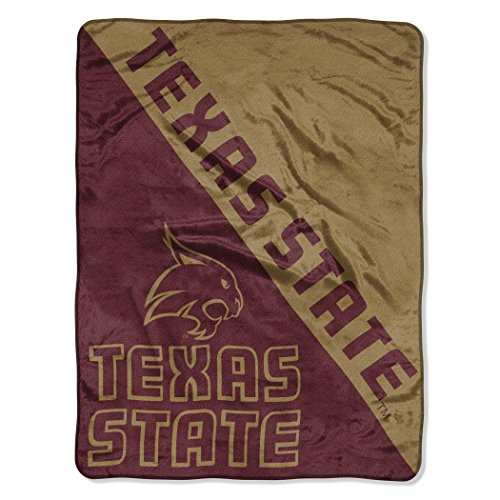 The Northwest Company Officially Licensed NCAA Texas State Bobcats Halftone Micro Raschel Throw Blanket, 46