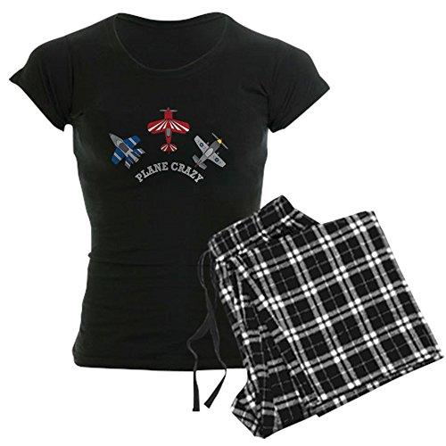 CafePress Aviation Plane Crazy - Womens Novelty Cotton Pajama Set, Comfortable PJ Sleepwear Flannel Crazy Pajamas