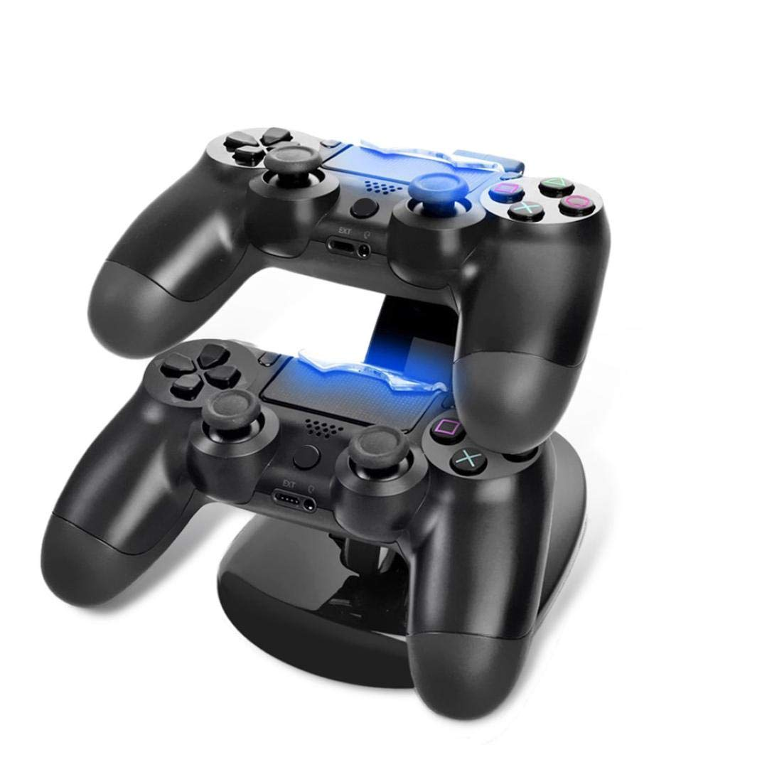 Amazon.com: Tiean Compatible PS4 Wireless Game Controller, Dual Double Set USB Charging Dock Charger Station Cradle (Two Versions (Updated Version): Toys & ...
